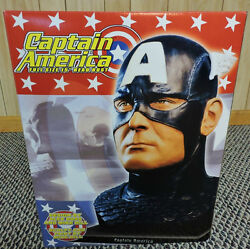 Dynamic Forces Captain America Life Size Bust Head By Alex Ross Statue Marvel