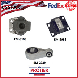 Engine Motor And Trans Mount Kit For 2003-2004 Ford Focus 2.3l