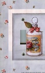 Light Switch Plate & Outlet Covers BATHROOM DECOR ~ BATH SALTS FLORAL FRAME