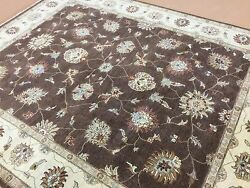 8 X 10 Brown Ivory Ziegler Oriental Area Rug Hand Knotted All Over Wool