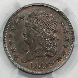 1809/6 C-5 Pcgs Ms 62 Bn Classic Head Half Cent Coin 1/2c Ex Carvin Goodridge