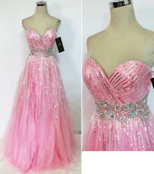 ALYCE PARIS 6201 Pink Evening PROM Gown 4 $390 NWT $168.77