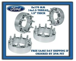 Ford F250 F350 8x170 Wheel Spacers Adapters 1.5 Heavy Duty Trucks Made In Usa