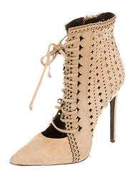 Spectacular Sold Out New 2300 Roberto Cavalli Laser Cut Suede Ankle Boots