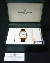 Old Frederique Constant Geneve Watch Date Wristwatch Swiss Made Certified Box