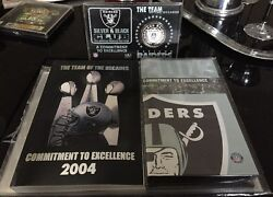 Oskland Raiders Lot Commitment To Excellence Book, Dvd And Limited Edition Coin