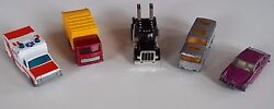 lot of 5 diecast toy vehicles lesney