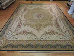 Dazzling PalaceOversize French Aubusson Design Oriental Area RugCarpet 12x15