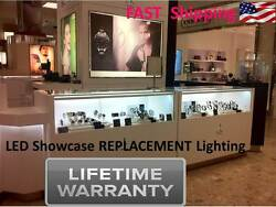6 Ft. Showcase Display Show Jewelry Antique Case Led Watch Ring Diamond Light
