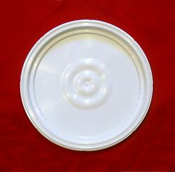 BUCKET LID WHITE FOR MOST PLASTIC 3 5 6 GALLON PLASTIC BUCKETS HAS AIRTIGHT SEAL