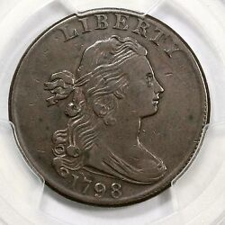 1798 S-185 R-2 Pcgs Vf 30 2nd Hair Style Draped Bust Large Cent Coin 1c