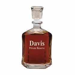 Custom Whiskey Decanter Engraved Personalized Monogrammed for Free $29.99