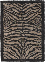 8x11and039 Chandra Rug Hand-woven Contemporary New Zealand Wool And Polyester