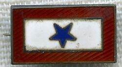 Sterling Wwi Son-in-service Pin With Diamond Maker Mark