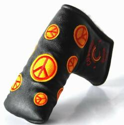New Customshop 911 Headcover Peace Blue Fit Blade Putter
