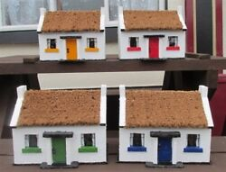 Irish Thatched Cottage Ornament Indoor/garden 4 Colours Hand Made In Ireland