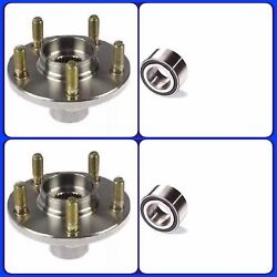 Front Wheel Hub And Bearing For Mazda 626 1998-2001 Pair New Fast Shipping