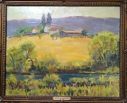 Donna Norine Schuster Golden Hills Original Oil Painting- From The 1940s