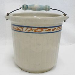 Red Wing Pottery Grayline Butter Jar With Advertising Max Brothers