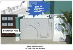 New Walk In Soaking Bath Tub Healthsmart Faucets Included Comes Assembled