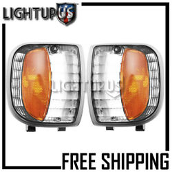 Left Right Pair Park Signal Lights for 1994-1997 MAZDA TRUCK B2300 B3000 B4000