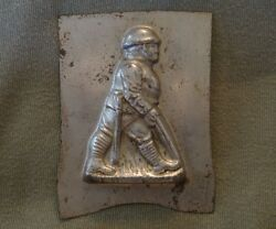 Antique Chocolate Soldier Candy Mold Metal Tin