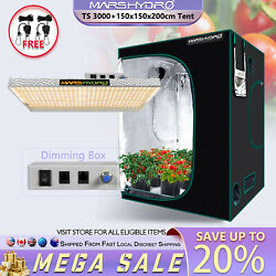 Mars Hydro Dimmable Ts 3000w Led Grow Light+5and039x5and039 Indoor Grow Tent Kit For Plant
