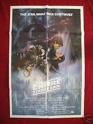 Star Wars The Empire Strikes Back 1980 Original Movie Poster Intand039l Gwtw Style A