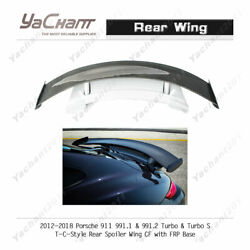 Pcf Spoiler For Porsche 911 991.1 And 991.2 Turbo And S Tc Carbon Blade W/ Frp Base