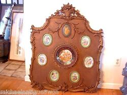 Rare Royal Vienna Porcelain Carved Wall Plaque Display Hanging