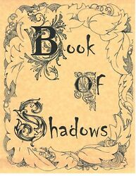 Book Of Shadows Spell Pages Cover Page Wicca Witchcraft Bos