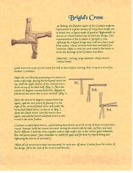 Book Of Shadows Spell Pages Brigid's Cross Wicca Witchcraft Bos