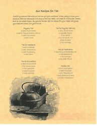 Book Of Shadows Spell Pages 6 Recipes For Tea Wicca Witchcraft Bos