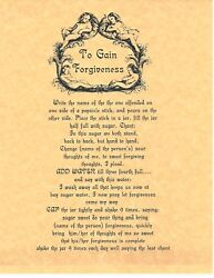 Book Of Shadows Spell Pages To Gain Forgiveness Wicca Witchcraft Bos