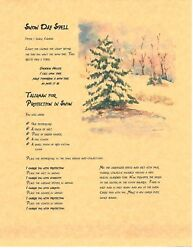 Book Of Shadows Spell Pages Snow Day Spell Wicca Witchcraft Bos