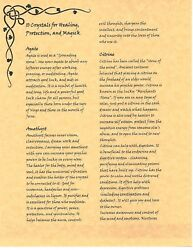 Book Of Shadows Spell Pages 10 Crystals For Healing Wicca Witchcraft Bos