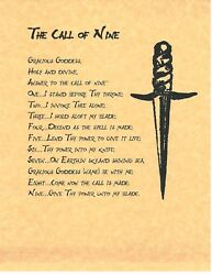 Book Of Shadows Spell Pages Call Of Nine Wicca Witchcraft Bos