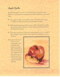 Book Of Shadows Spell Pages Apple Spells And Magick Wicca Witchcraft Bos