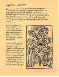 Book Of Shadows Spell Pages August Eve Wicca Witchcraft Bos