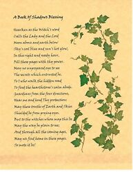 Book Of Shadows Spell Pages Blessing Page Ivy Wicca Witchcraft Bos