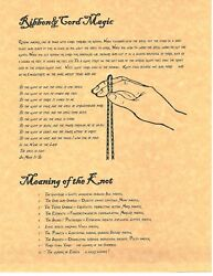 Book Of Shadows Spell Pages Cord And Knot Magick Wicca Witchcraft Bos