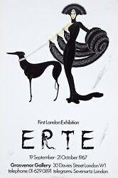 Symphony In Black First Published Poster 1967 Erte 1/75 Extremely Rare Signed