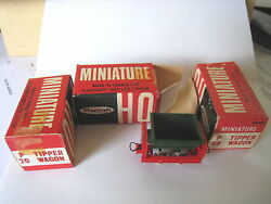 playcraft 3 x mint boxed p20 tipper wagons