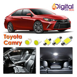 10x White CREE COB LED Interior Lights Package for 2007 - 2017 2018 Toyota Camry