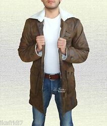 Mens And039baneand039 Dark Knight Rises Handmade Sheep Leather Coat/jacket Brown Sizes
