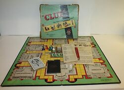 1949 clue board game parker brothers