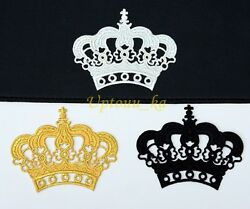 10 sets of Kings Beautiful Royal Crown Prince Embroidered Sew Iron on Patch