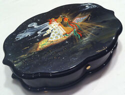 Reuge Music Hand Painted Music Box 3.72 Note Movement-18th Variations S.rachma
