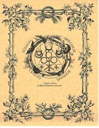 Book Of Shadows Spell Pages Goetic Circle Wicca Witchcraft Bos