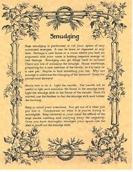 Book Of Shadows Spell Pages Parchment About Smudging Wicca Witchcraft Bos